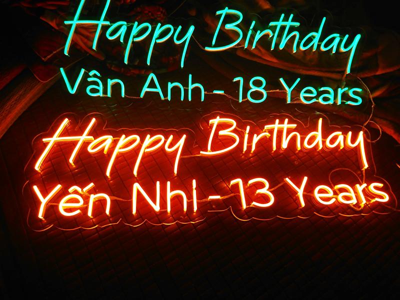 Lý do nên dùng Led Flex Neon Sign cho bữa tiệc sinh nhật