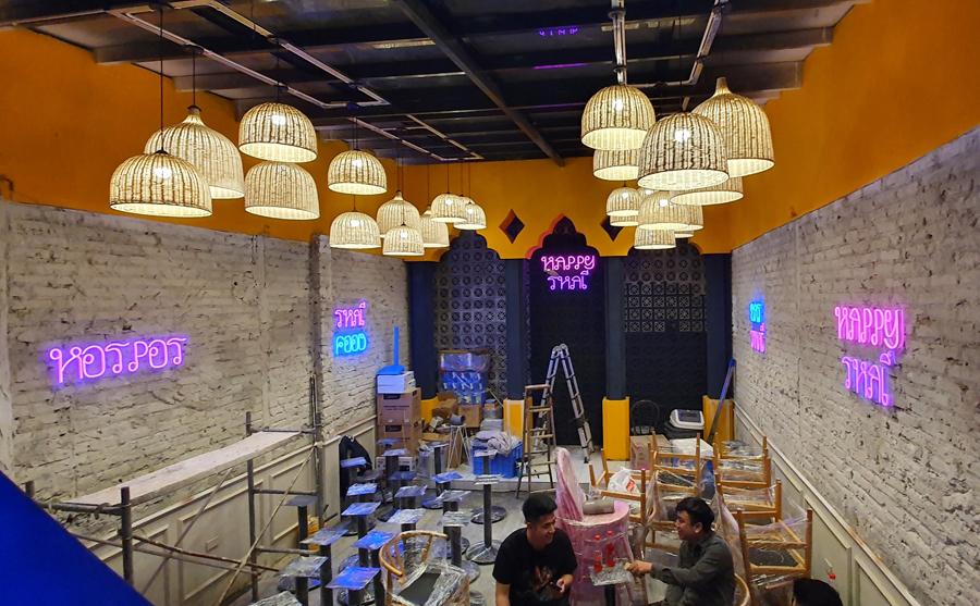 Thiết kế thi công quán ăn Thái tai  94 Mai Hắc Đế