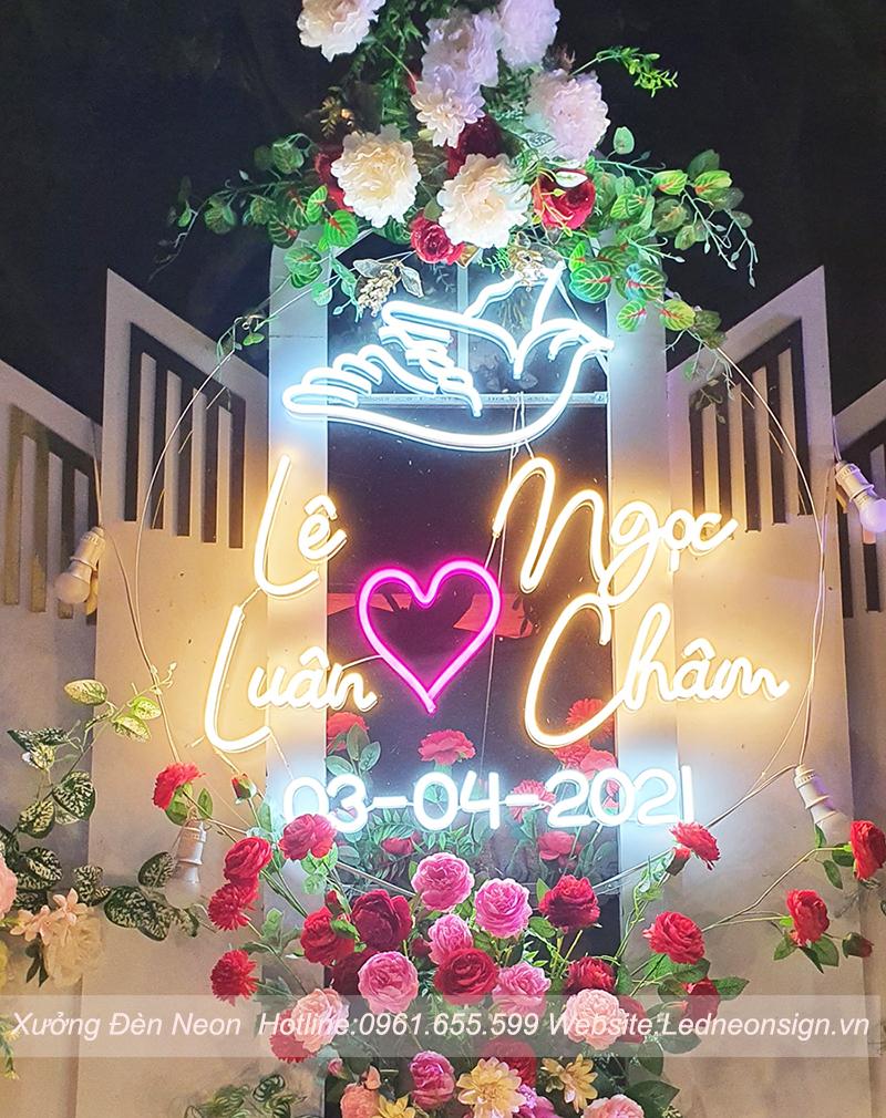 Thi công và thiết kế đèn neon sign flex tại Hà Đông Hà Nội