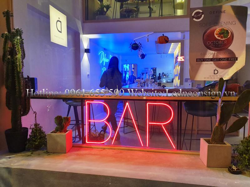 Thi công Neon Sign Led cho quán Bar Beer Club uy tín tại Hà Nội 1