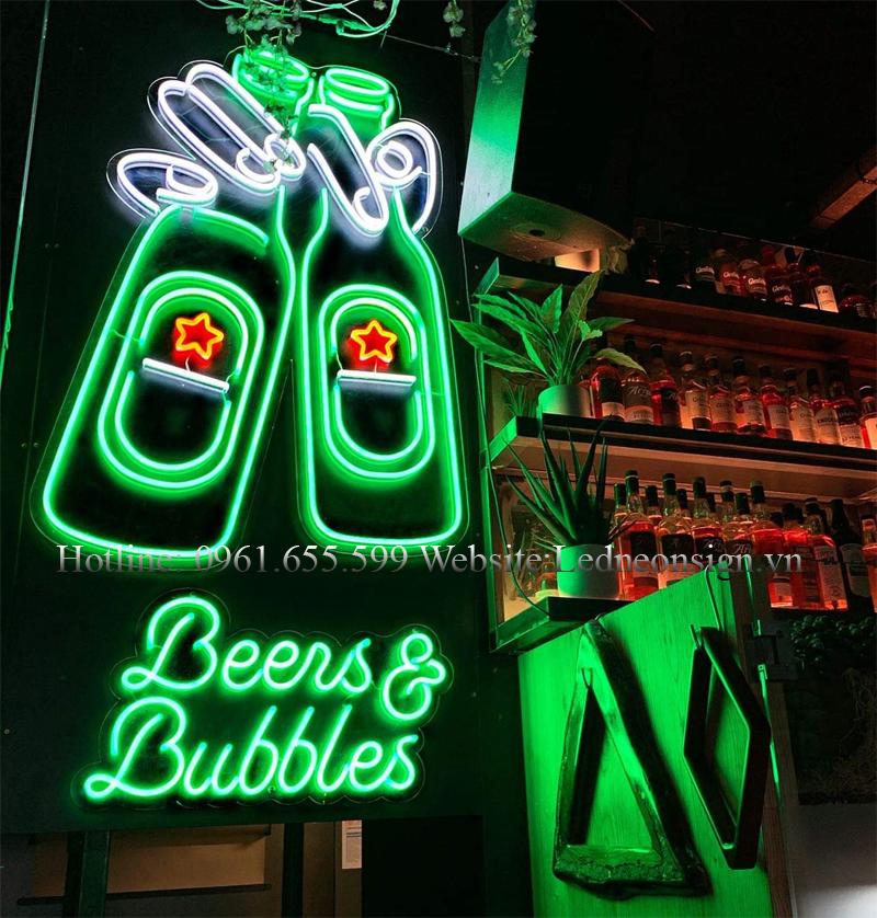Thi công Neon Sign Led cho quán Bar Beer Club uy tín tại Hà Nội