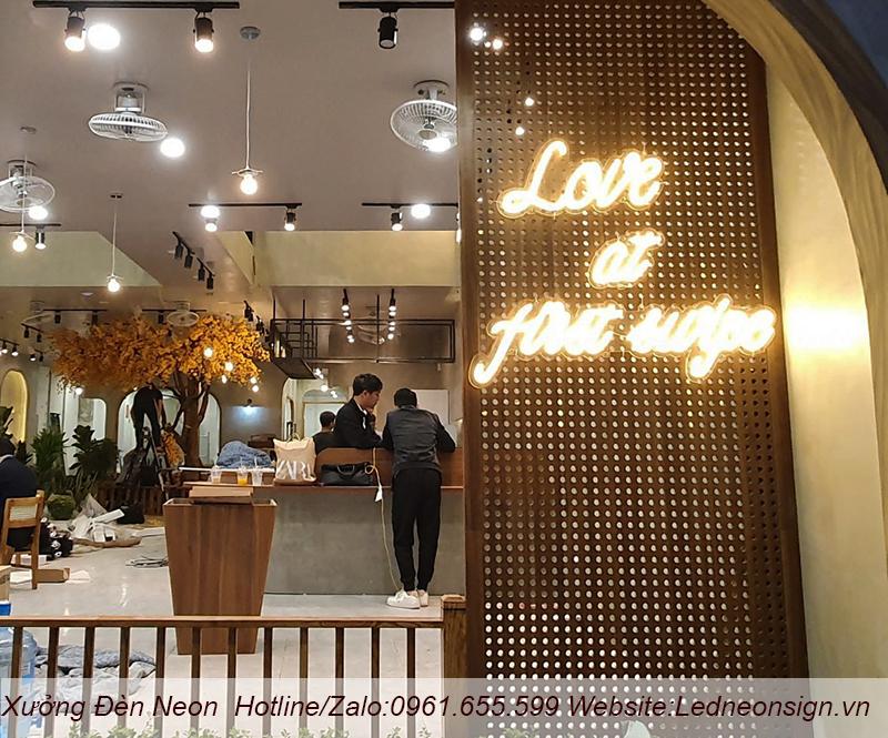 Đèn Neon Led- Ứng dụng trong trang trí quán cafe hot trend
